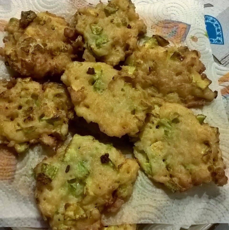 frittelle riso zucchine